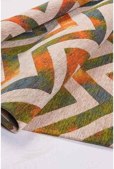 Halı Special Turuncu, Yeşil, Vizon Modern Dekoratif Halı - HS9202A