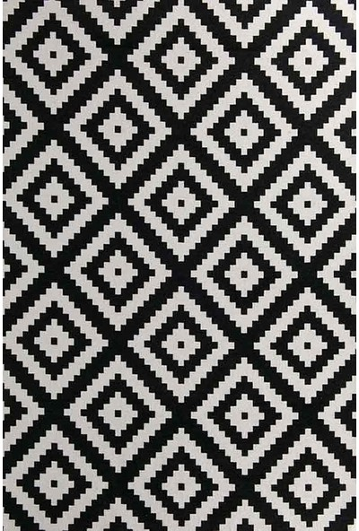 Halı Special Çift Taraflı Siyah, Beyaz Modern Kilim - HS93510P