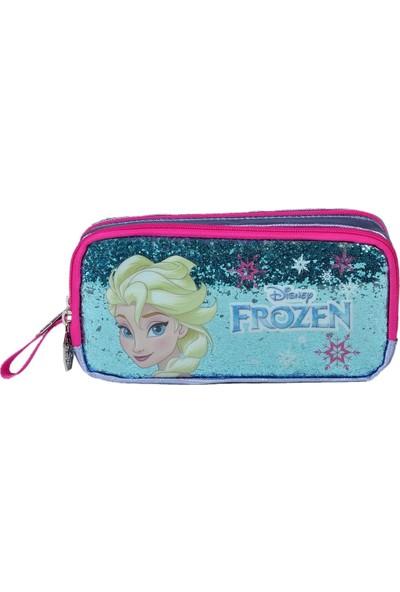 Frozen Elsa Iki Bölmeli Simli Kalemlik Çanta Lisanslı