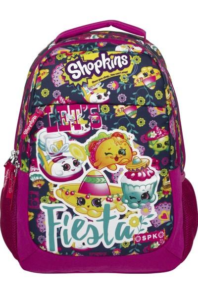 Ümit Çanta Shopkins Üç Bölmeli Pembe Kız Çocuk Ilkokul Çantası - 2159