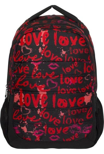 Ümit Çanta Cennec Love Üç Bölmeli Okul Sırt Çantası (Ortaokul ve Lise)