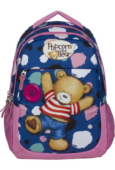 Ümit Çanta Popcorn The Bear Pembe-Mavi Ilkokul Sırt Çantası 2169