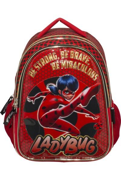 Ümit Çanta Miraculous Ladybug Simli Ilkokul Kız Çocuk Sırt Çantası 2136
