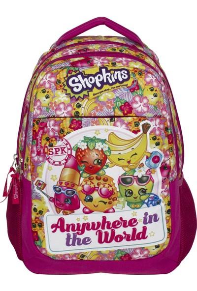 Ümit Çanta Shopkins Cicibiciler Üç Bölmeli Pembe Kız Çocuk Okul Çantası - Ümit 2155