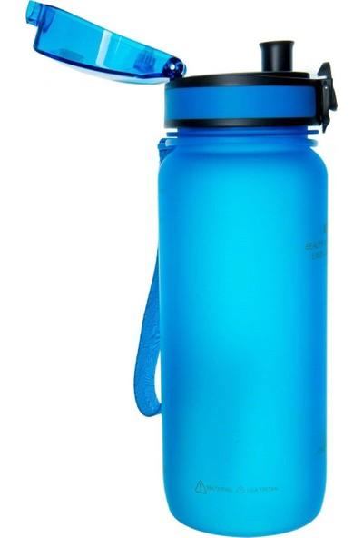 Uzspace Kilitli Kapak 650 ml Kırılmaz Mavi Tritan Matara