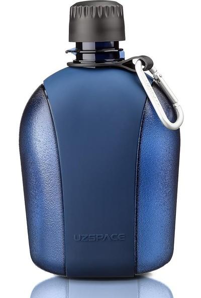 Uzspace 950 ml Lacivert Büyük Outdoor Su Matarası - Silikon Kaplı Gövde