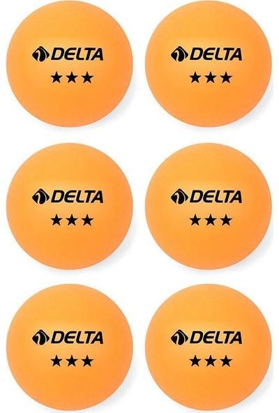 Delta 3 Yıldız Turuncu 6 adet Masa Tenisi (Pinpon) Topu - EPT 583