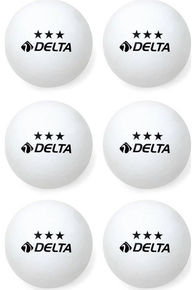 Delta 3 Yıldız Beyaz 6 adet Masa Tenisi (Pinpon) Topu - EPW 561