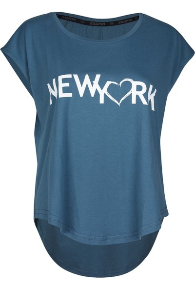 Exuma 1182211-413 New York Indıgo T-Shirt W Mavi