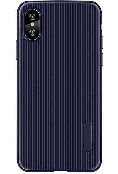 CoverZone Samsung Galaxy A30 Kılıf Düz Çizgili Mat Active Silikon Kılıf Lacivert -tio30