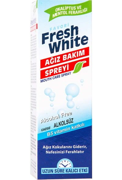 Fresh White Ağız Kokusu Giderici ve Önleyici Sprey 4 Adet