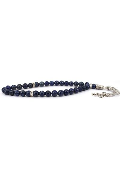 Alnis Atelier Ay Yıldız İmameli Lapis Lazuli Doğal Taş Tesbih