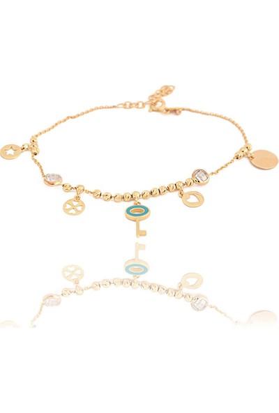 Dal Kuyumculuk 14 Ayar Altın Tiffany Anahtarlı Şans Bilekliği