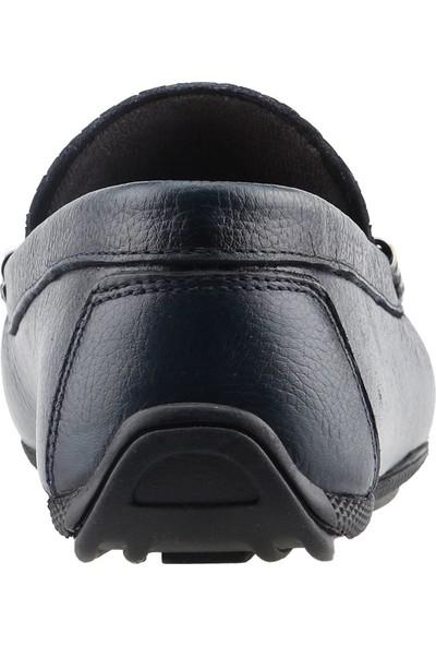 Bigtorres 1830 Günlük %100 Deri Fiyonklu Erkek Ayakkabı Petrol Yeşili