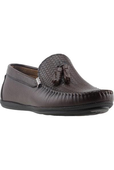 Bigtorres 1830 Günlük %100 Deri Fiyonklu Erkek Ayakkabı Kahverengi