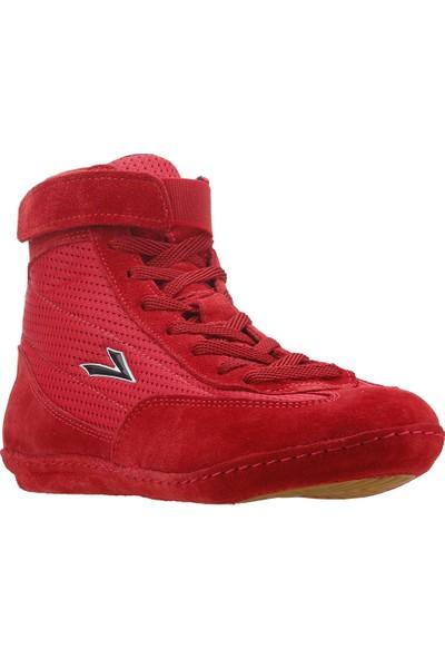 Lig 70 Güreş Boks Erkek Salon Spor Ayakkabı Kırmızı