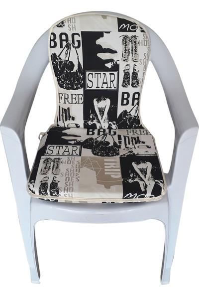 Mirzaade Lüks Joker Sandalye Minderi Kalın Panama Kumaş Gri Süngerli Muhtelif Plastik Sandalyelere Uyumlu-S.B