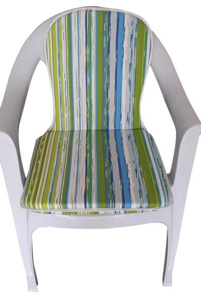 Mirzaade Lüks Joker Sandalye Minderi Kalın Panama Kumaş Gri Süngerli Muhtelif Plastik Sandalyelere Uyumlu-106