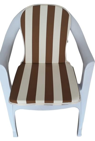 Mirzaade Lüks Joker Sandalye Minderi Kalın Panama Kumaş Gri Süngerli Muhtelif Plastik Sandalyelere Uyumlu-114
