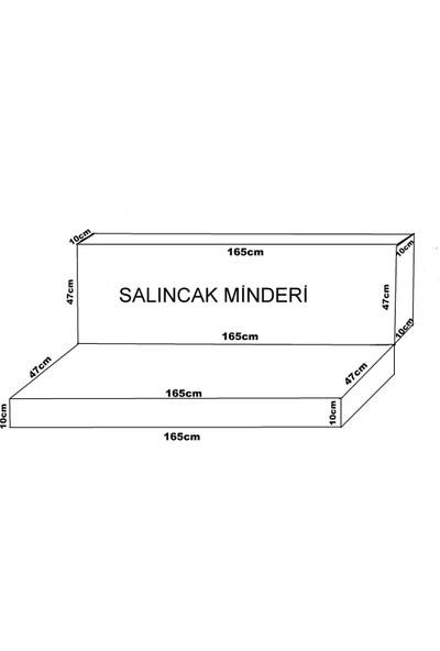 Mirzaade Elit Salıncak Minderi Taç Su İtici Kumaş Gri Sünger Fermuarlı Komple Set-32440-01