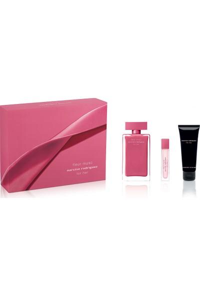 Narciso Rodriguez Fleur Musc For Her Edp 100 ml + Edp 10 ml + Body Lotion 75 ml Kadın Parfüm Seti