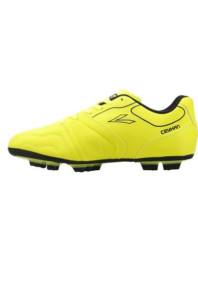 Lig Ceyhan Km Çim Saha Krampon Erkek Spor Futbol Ayakkabısı Sarı