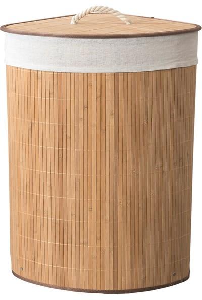 Doreline Kanoo Bambu Katlanabilir Kirli Çamaşır Sepeti