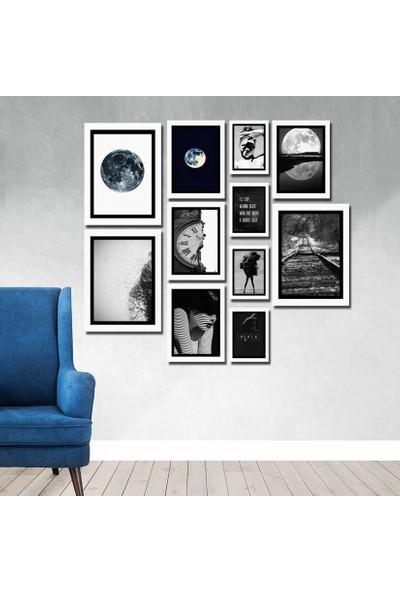 Cadran Luxury Modern Home Dekoratif 11 Parçalı Mdf Tablo CNA088