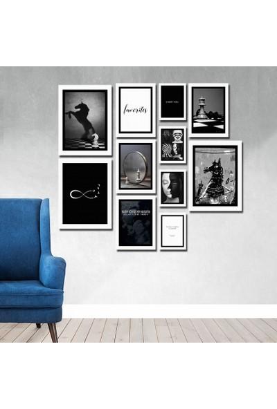 Cadran Luxury Modern Home Dekoratif 11 Parçalı Mdf Tablo CNA038