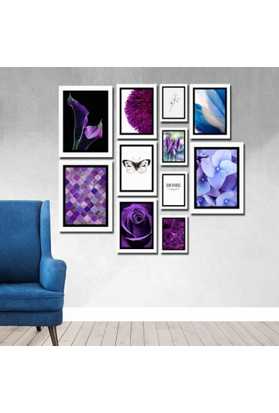 Cadran Luxury Modern Home Dekoratif 11 Parçalı Mdf Tablo CNA055