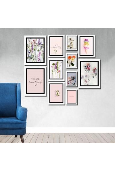 Cadran Luxury Modern Home Dekoratif 11 Parçalı Mdf Tablo CNA030