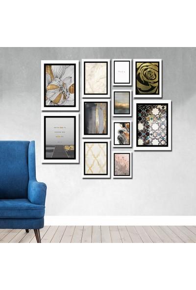 Cadran Luxury Modern Home Dekoratif 11 Parçalı Mdf Tablo CNA061