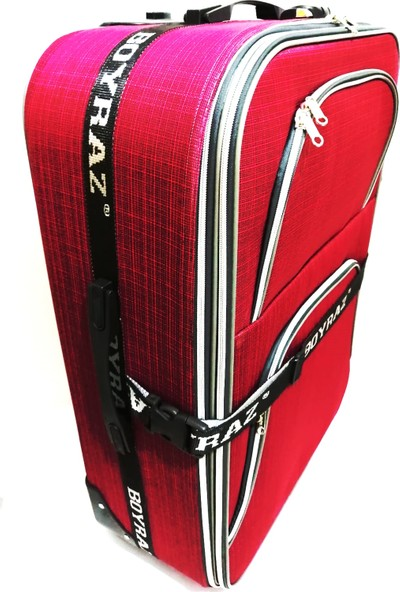 Boyraz Seyhat Valizi Orta Boy Kırmızı Renk