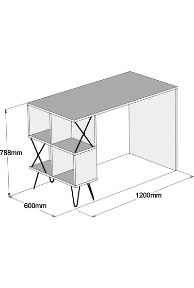 Variant Extra Çalışma Masası - Ceviz