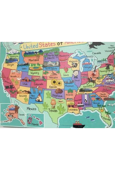 Mapofx Kanvas Amerika Haritası Illüstrasyon