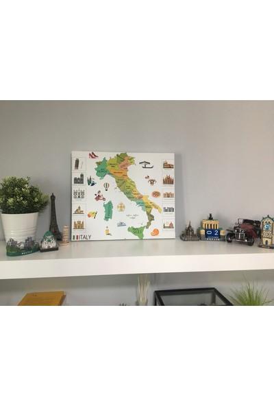 Mapofx Kanvas Italya Haritası Illüstrasyon