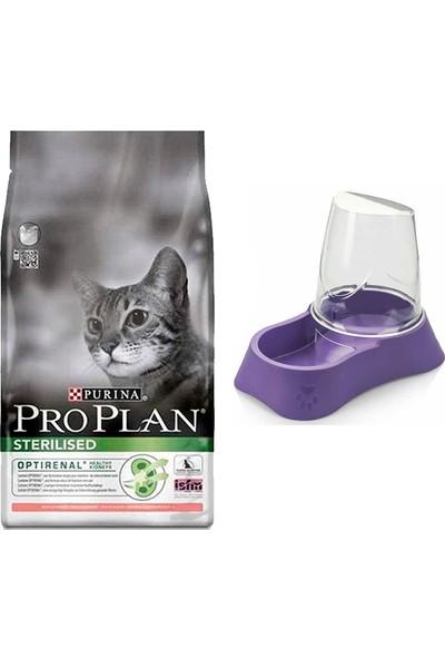 Pro Plan Sterilised Kısırlaştırılmış Kediler Için Somonlu Kedi Maması 1,5 kg + Evohe Mama Kabı