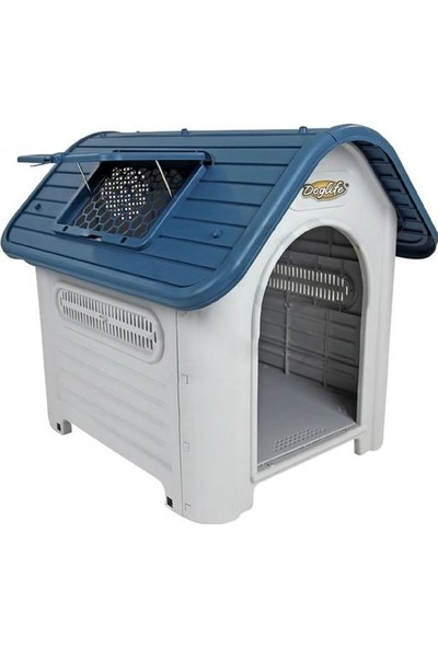 Doglife Ravello 87 Plastik Köpek Kulübesi Kapısız 87X72X76 Cm