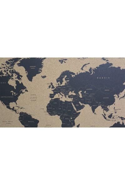 Mapofx Mantar Siyah Dünya Haritası