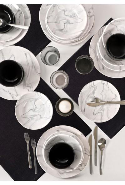 Keramika Mermer Yemek Takımı 24 Parça 6 Kişilik 17382