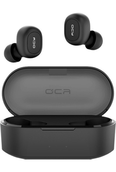 QCY T2C Çift Mikrofonlu Şarj Edilebilir Bluetooth V5.0 Siyah Telefon Kulaklığı