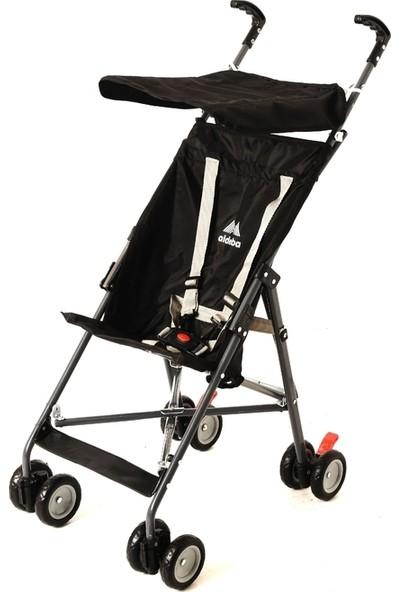 Aldeba Pratik Baston Bebek Arabası - Siyah