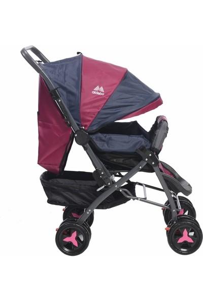Aldeba 8028B Çift Yönlü Bebek Arabası - Pembe