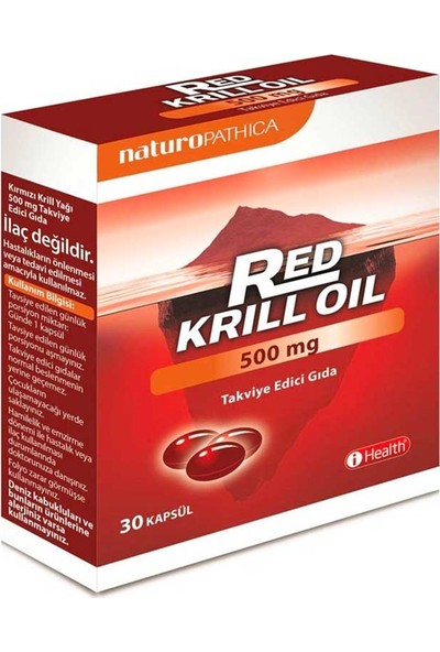 Naturo Pathica Red Krill Oil Besin Takviyesi