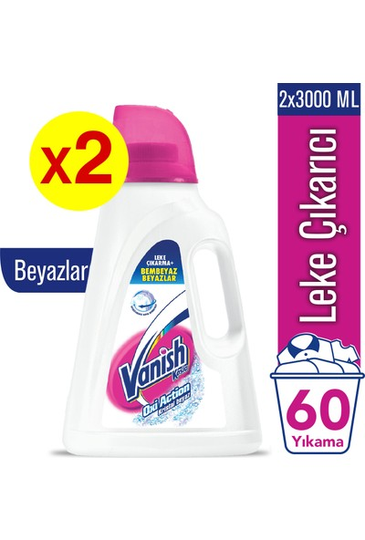 Vanish Kosla Oxi Action Beyaz 3000 ml x 2 Adet