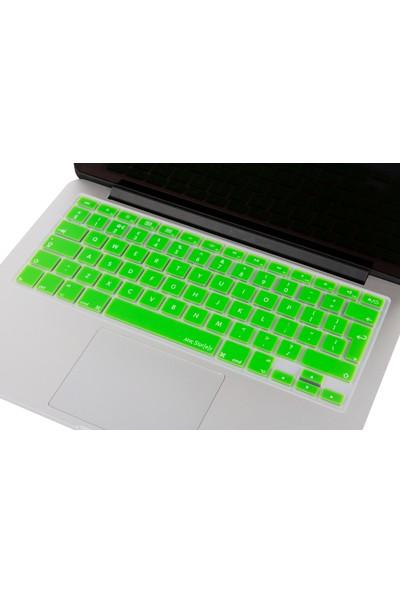 """Macstorey Apple Macbook Pro Retina Air Q Klavye Koruyucu Kapağı Silikonlu Kılıf UK İngilizce 13"""" 15"""" 17"""" 343"""