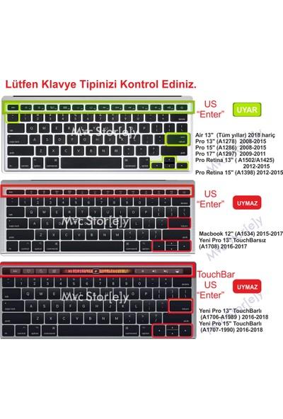 "Macstorey Apple MacBook Air Pro Retina 13""15""17"" Q Mix Pembe Klavye Koruma Silikon US İngilizce Kapak 1374"