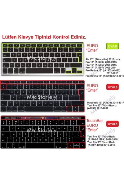 "Macstorey Apple MacBook Air Pro Retina 13""15""17"" Q Mix Siyah Klavye Koruma Silikon UK İngilizce Kapak 1371"