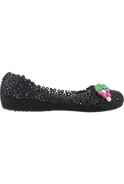 Almues 1401 Plaj Deniz Havuz Babet Bayan Deniz Ayakkabısı Siyah