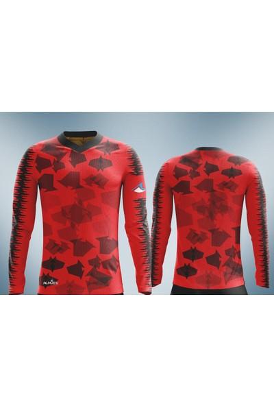 Almues 2730 Futbol Spor Sünger Destekli Kaleci Forması Takımı Kırmızı